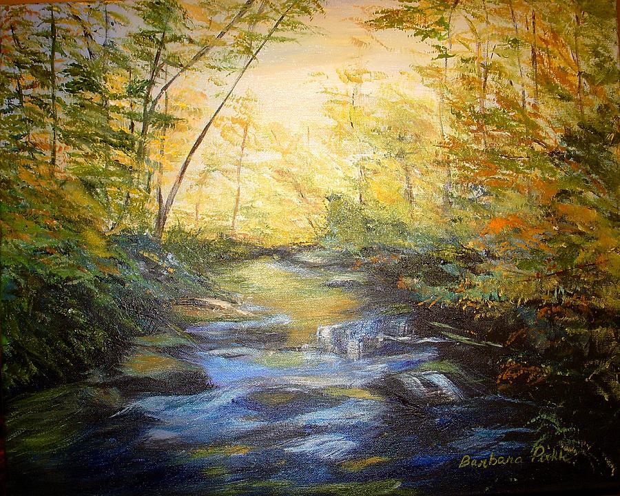 Landscape Painting - Tallulah River Color by Barbara Pirkle