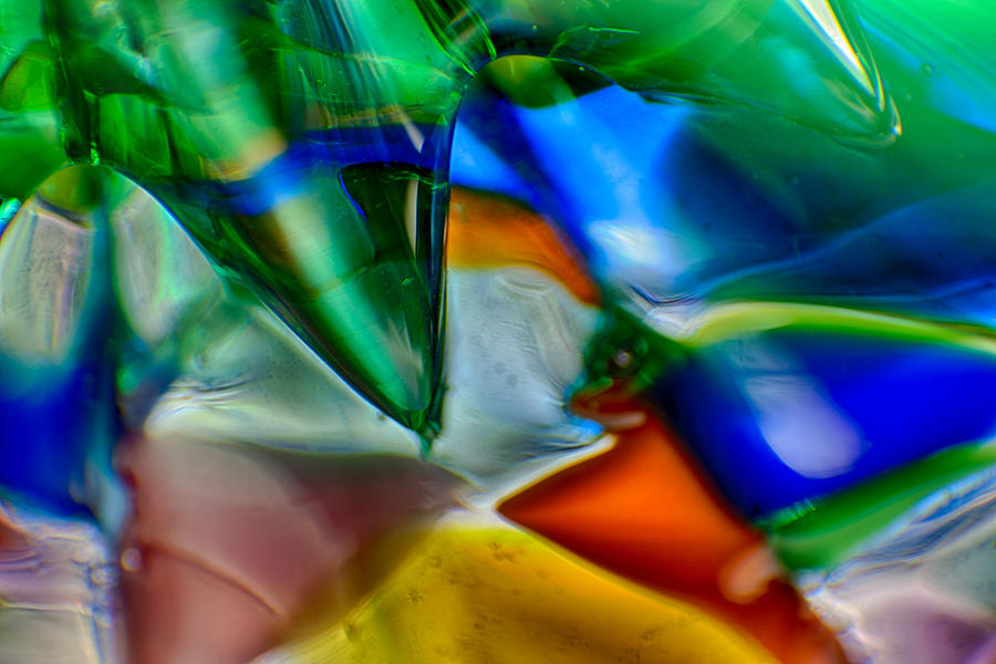 Glass Photograph - Talons Verde by Omaste Witkowski