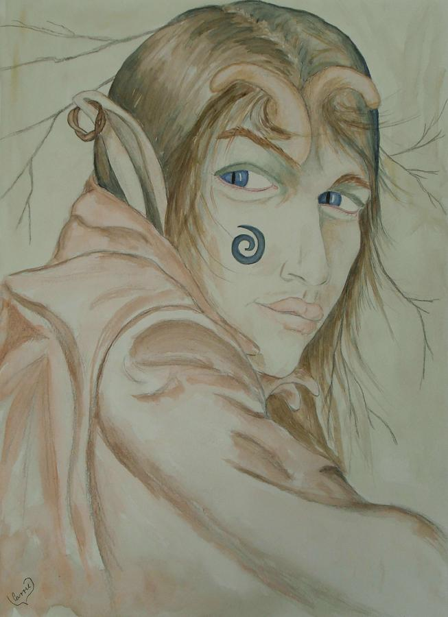 Faerie Painting - Tam Lins Son by Carrie Viscome Skinner