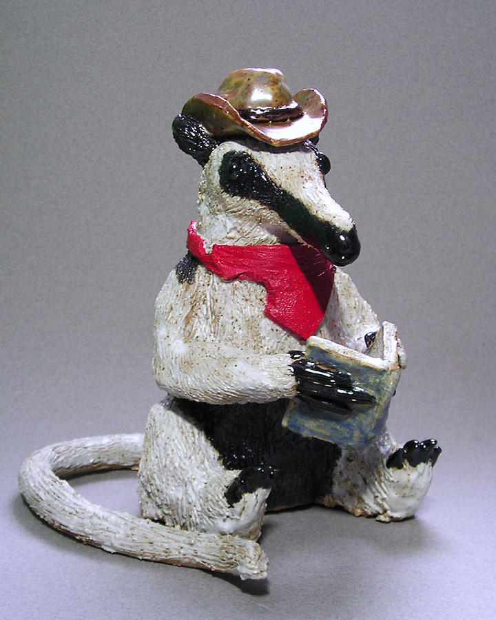 Clay Sculpture - Tamandua Anteater by Jeanette K