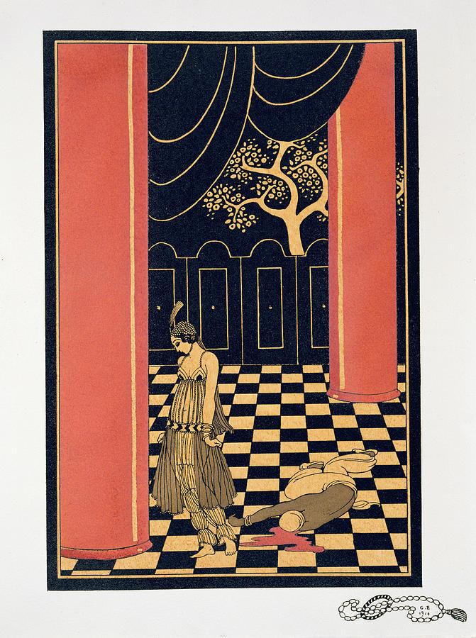 Tamar Painting - Tamara Karsavina by Georges Barbier