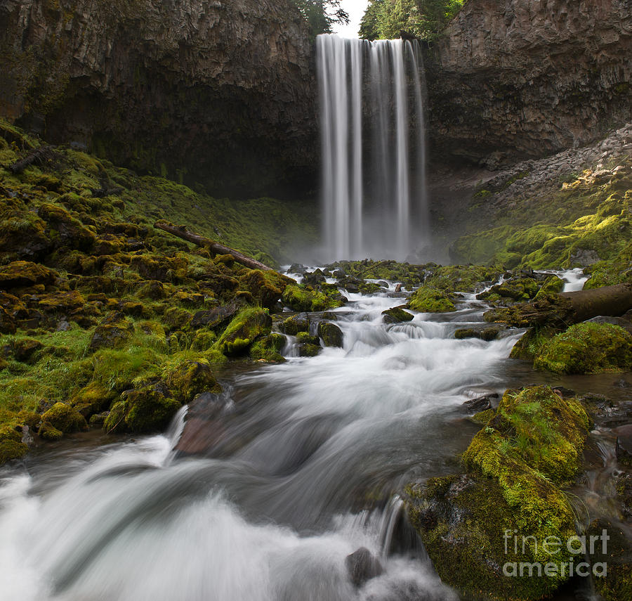 Waterfalls Photograph - Tamawanas Falls In Summer by Jackie Follett