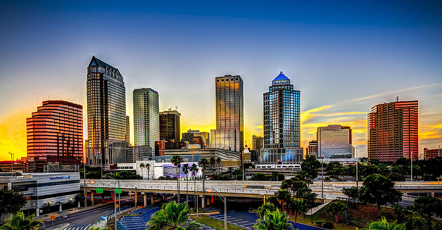 Florida Photograph - Tampa Skyline by Marvin Spates