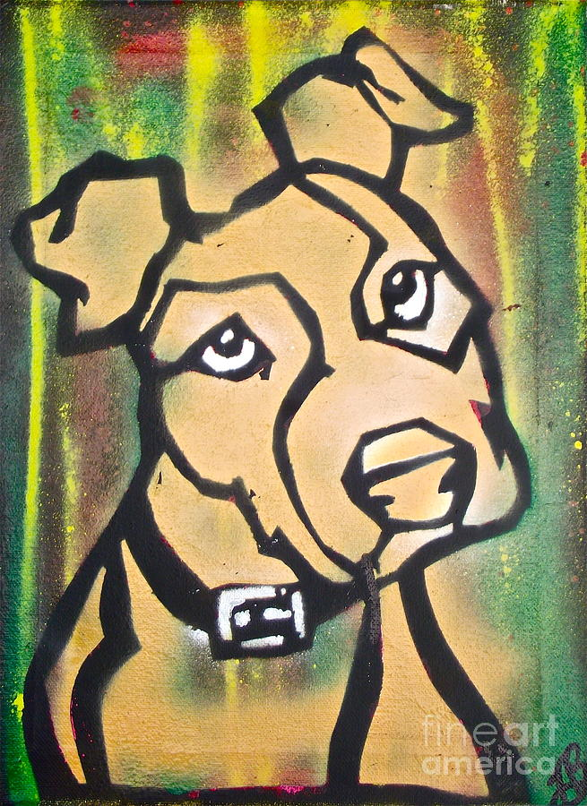 Political Paintings Painting - Tan Dog by Tony B Conscious