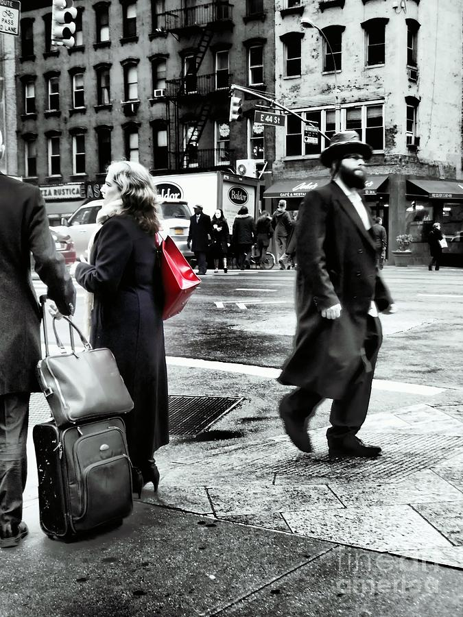 Street Photography Photograph - Tangents - A Walk In The City by Miriam Danar