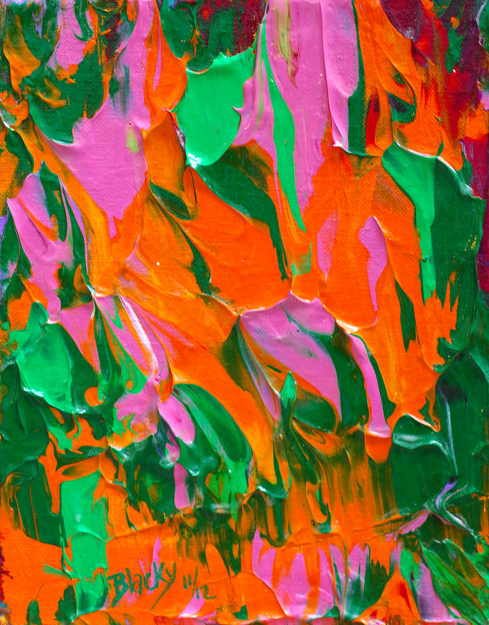 Tangerine Painting - Tangerine And Lime by Donna Blackhall