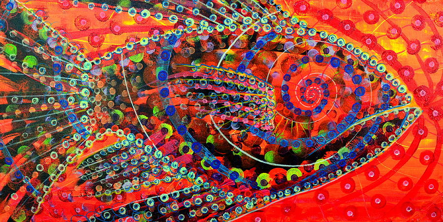 Abstract Painting - Tangerine Fish by Jeremy Smith