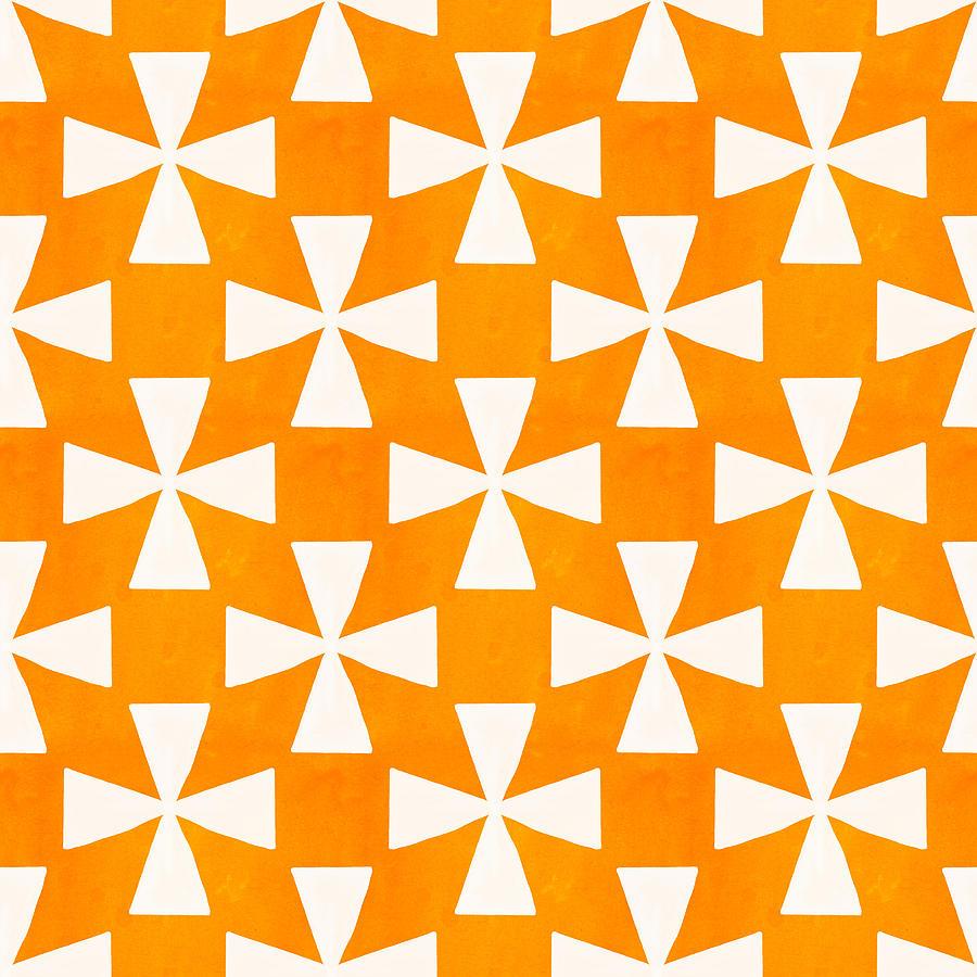 Orange Painting - Tangerine Twirl by Linda Woods