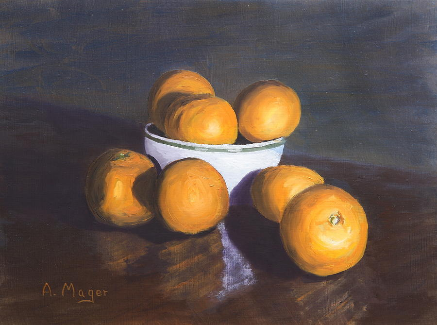 Painting Painting - Tangerines by Alan Mager
