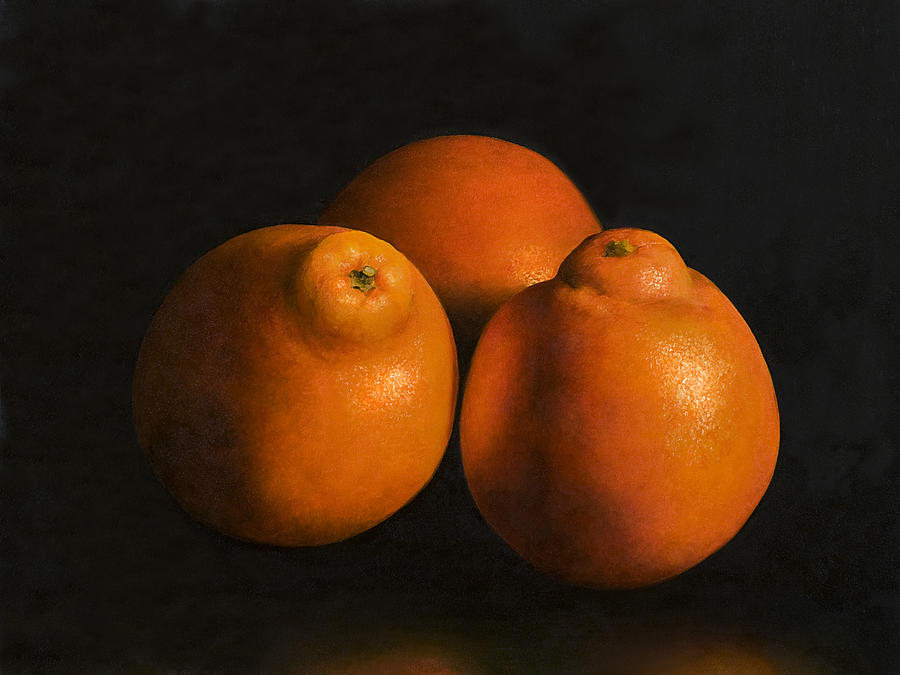 Tangerines Painting - Tangerines by Anthony Enyedy
