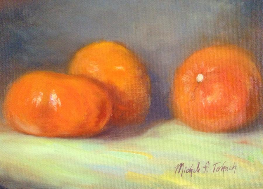 Still Life Painting - Tangerines by Michele Tokach