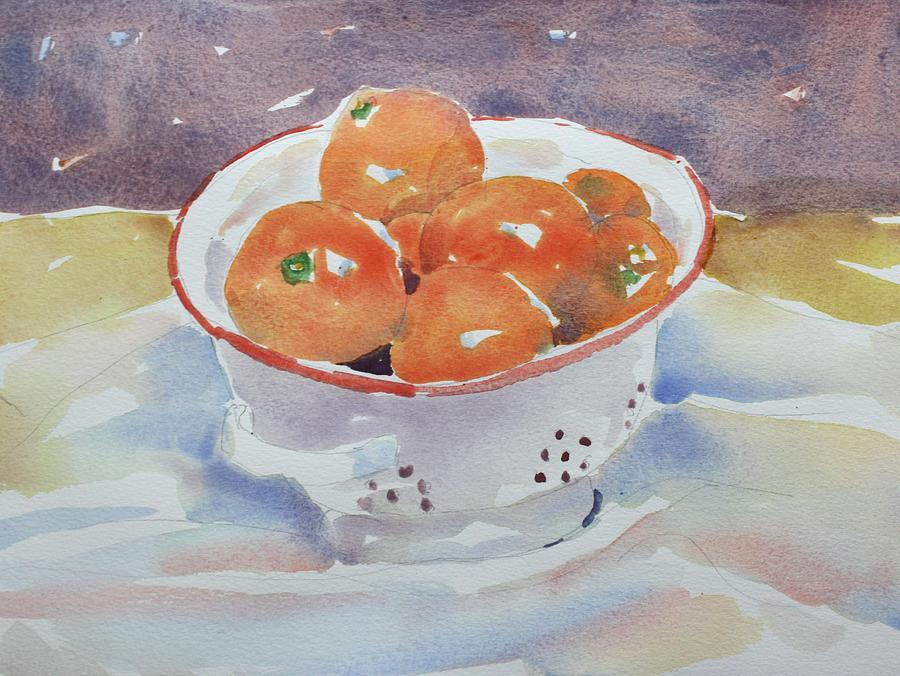 Still Life Painting - Tangerines by Owen Hunt