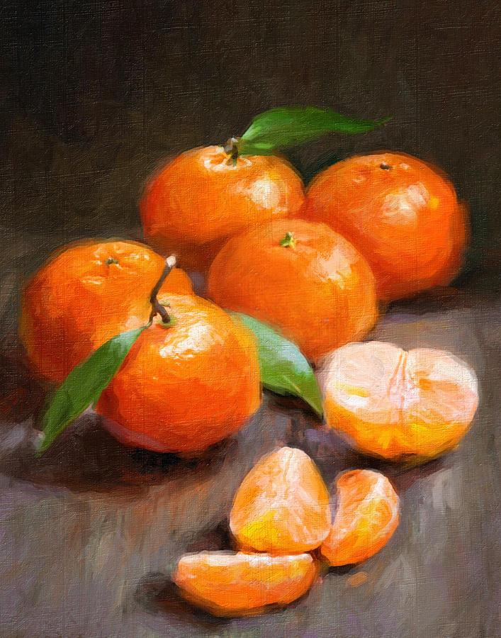 Tangerines Painting - Tangerines by Robert Papp