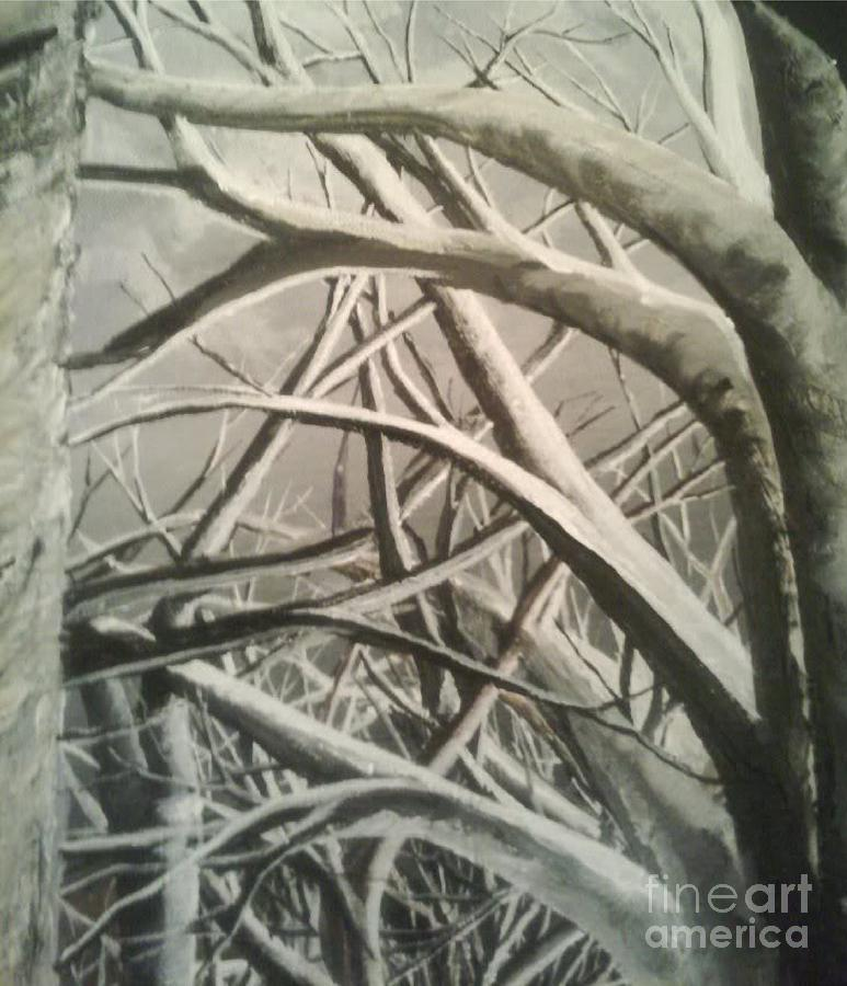 White Trees Painting - Tangle by Pheonix Creations