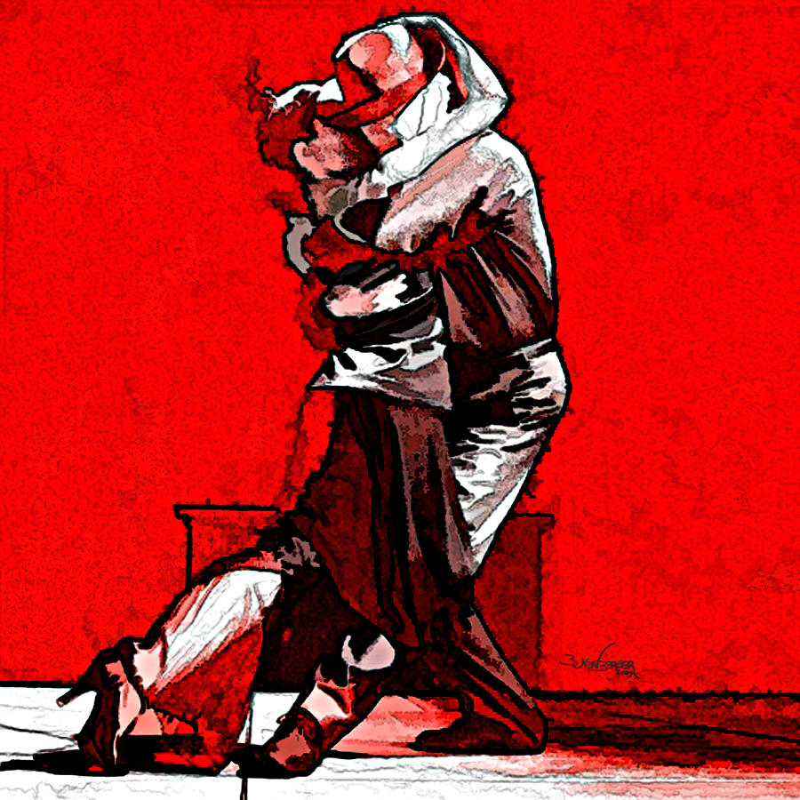Sensual Mixed Media - Tango Argentino - Melting Together by Reno Graf von Buckenberg