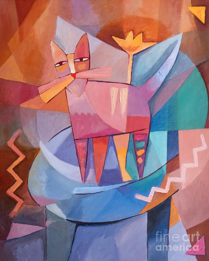 Tango Cat Painting - Tango Cat by Lutz Baar