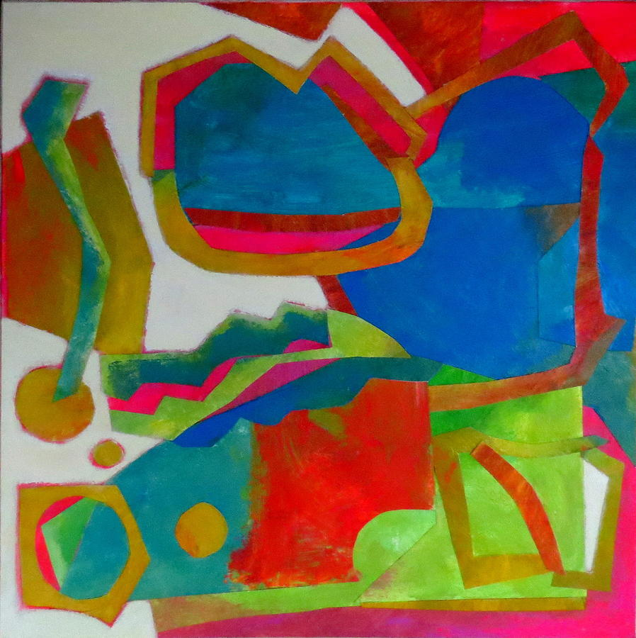 Abstract Mixed Media - Tango by Diane Fine
