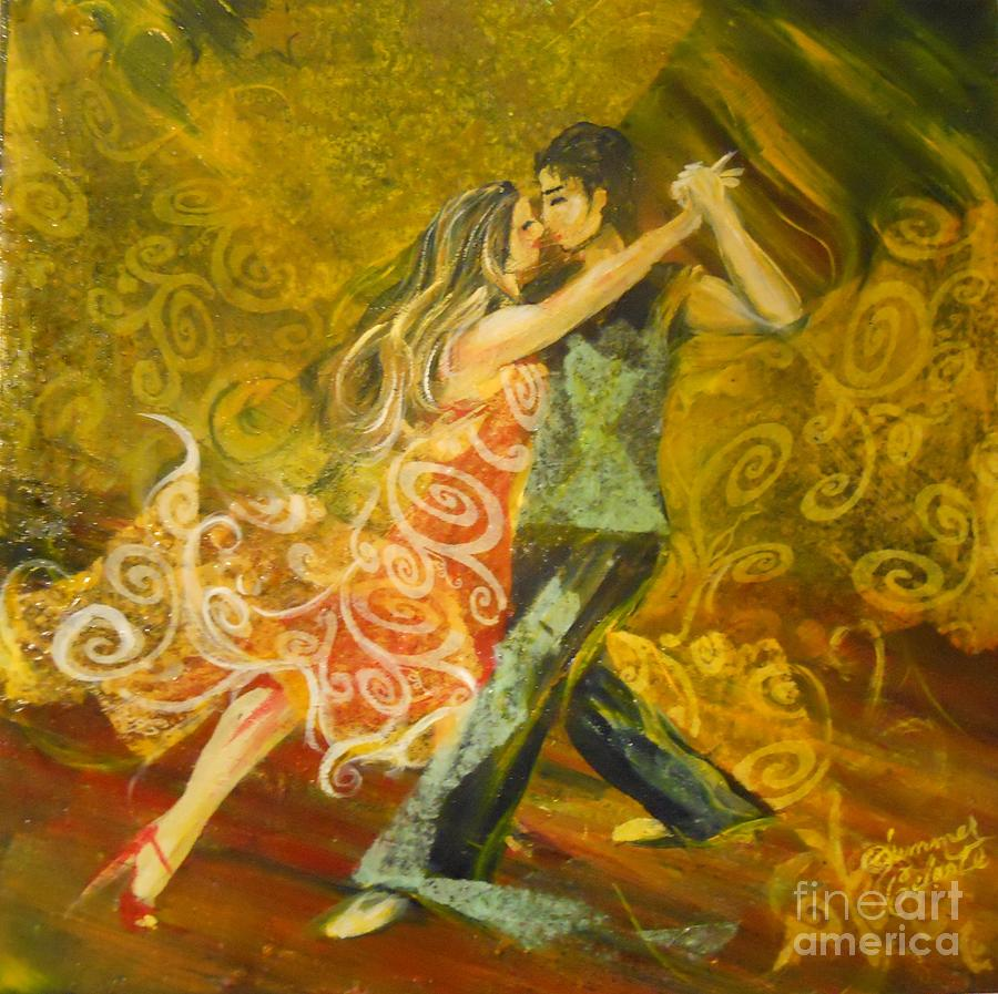 Tango Painting - Tango Flow by Summer Celeste