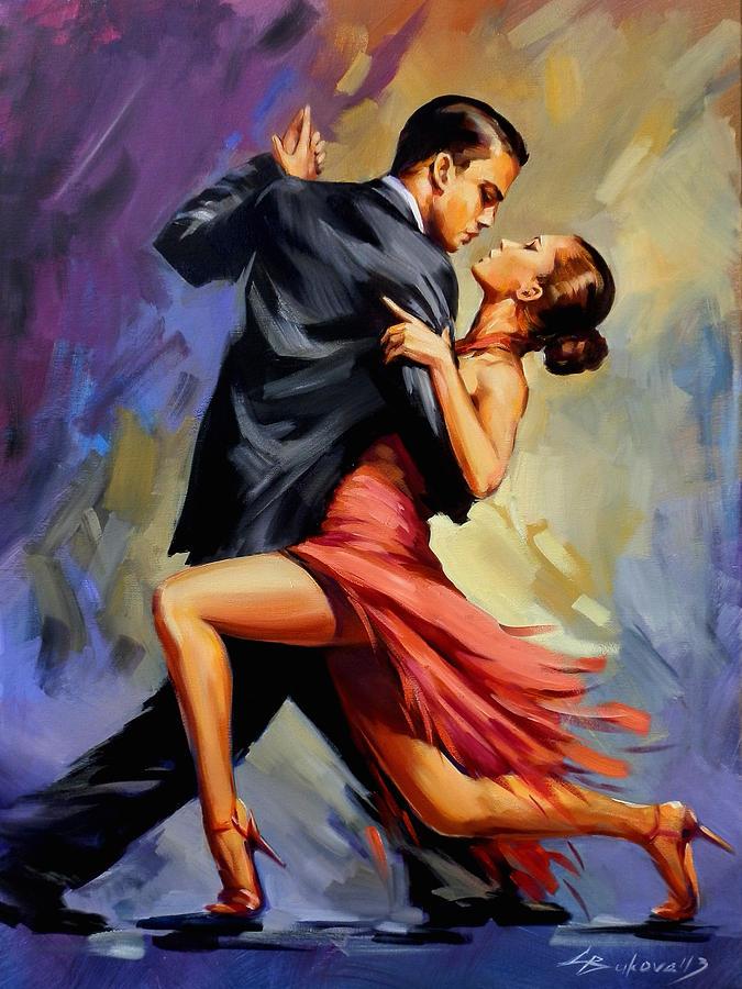 Tango Painting By Galya Bukova