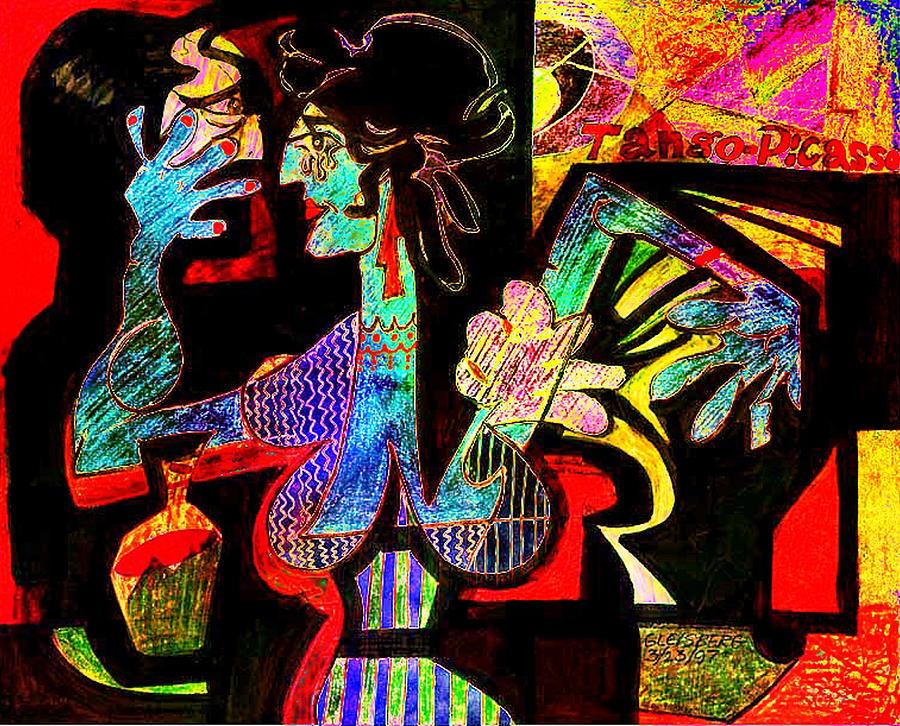 Mixed Media Digital Art - Tango Picasso-ii by Dean Gleisberg