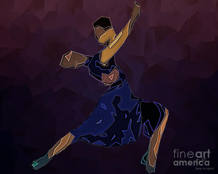 Passion Digital Art - Tango To Heaven by Pedro L Gili