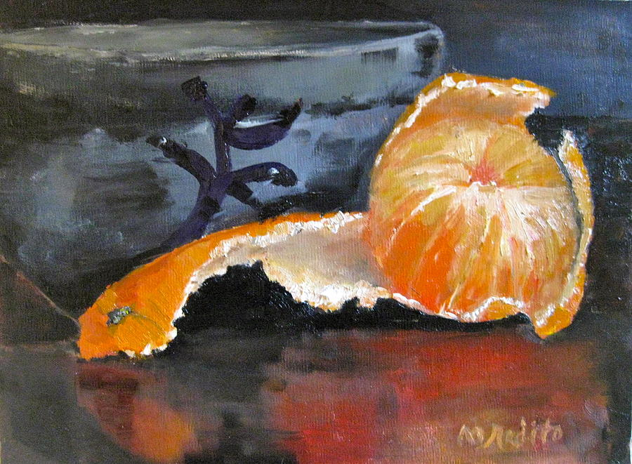 Tangerine Painting - Tangy Tangerine by MaryAnne Ardito