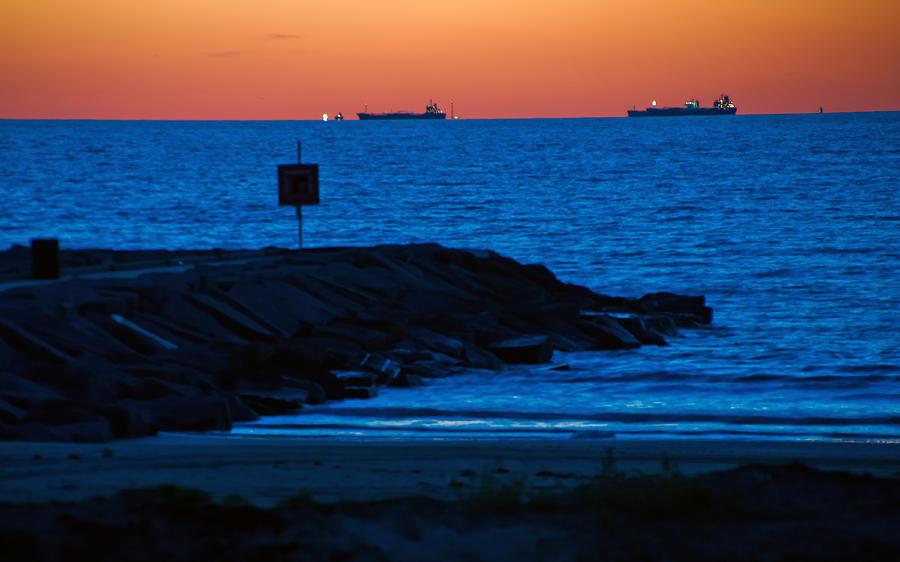 Tanker Sunrise by John Collins