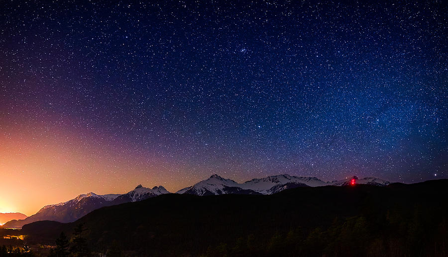 Stars Photograph - Tantalus Lookout by Alexis Birkill