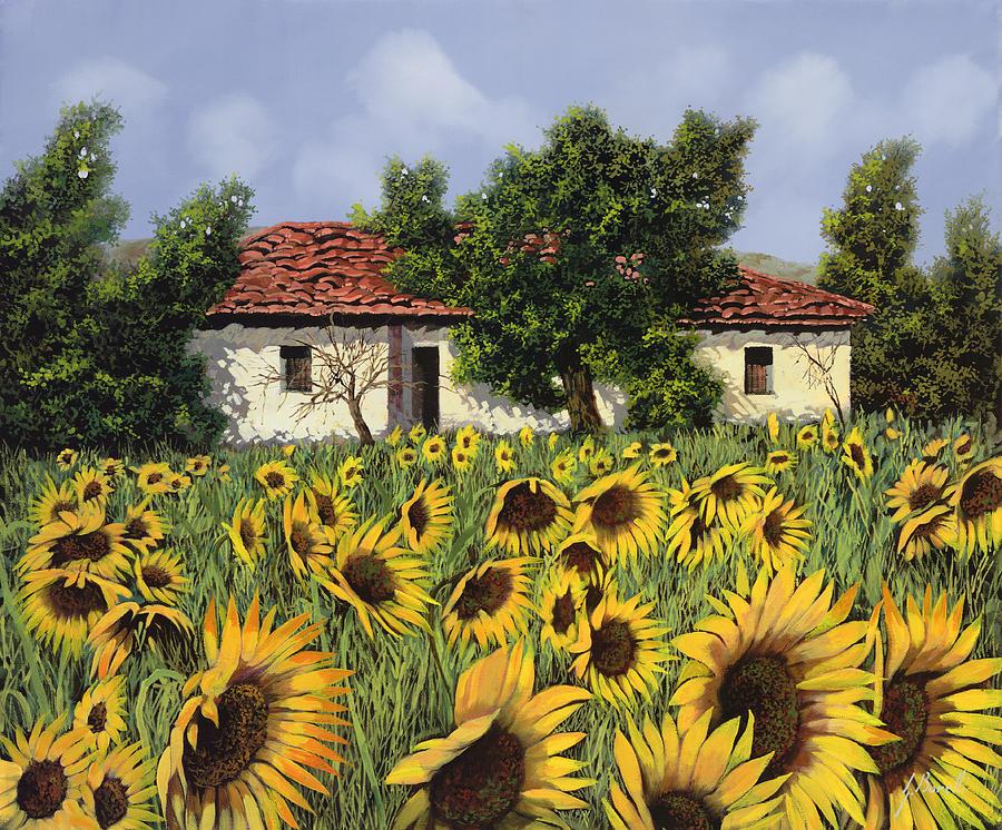 Tanti Girasoli Davanti Painting