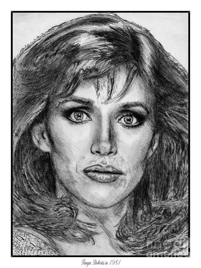 Tanya Roberts Drawing - Tanya Roberts In 1981 by J McCombie