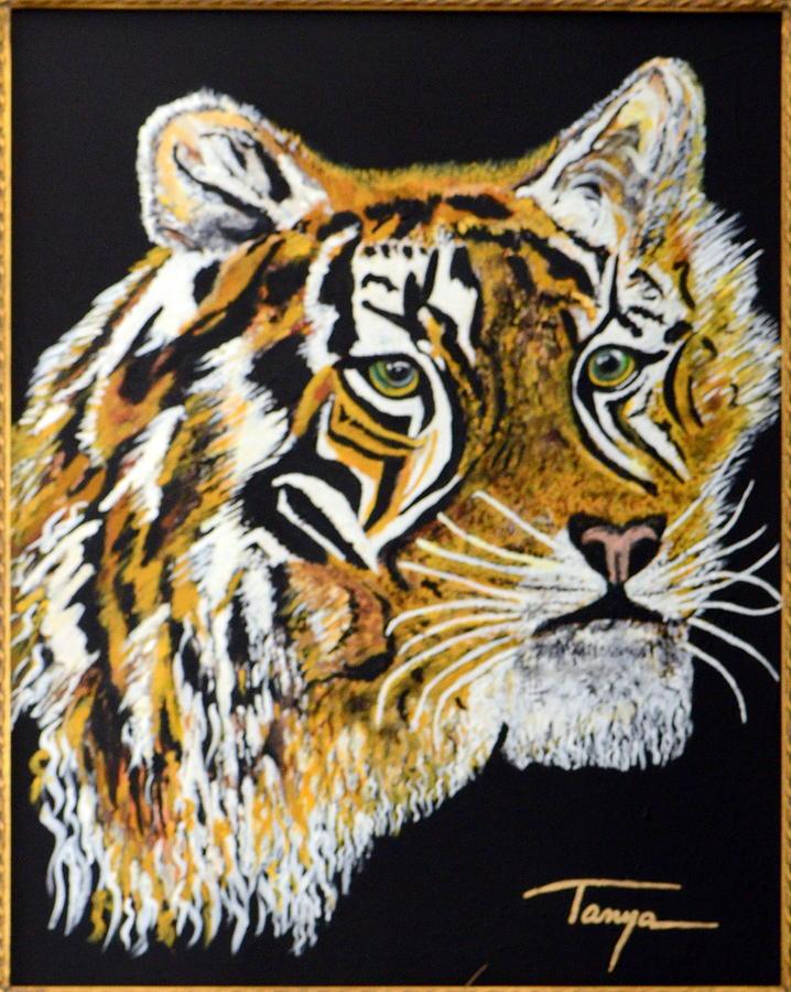 Tiger Painting - Tanyas Tiger......... by Tanya Tanski