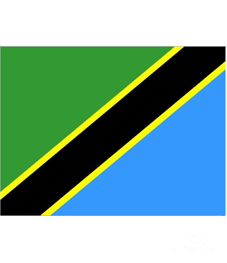 Tanzania Digital Art - Tanzania Flag by Frederick Holiday
