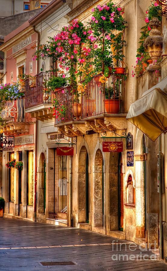 Taormina Photograph - Taormina Balcony by Michael Berry