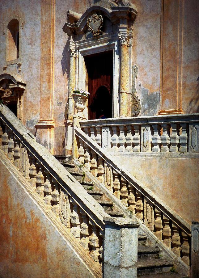 Taormina Photograph - Taormina Staircase by Carla Parris