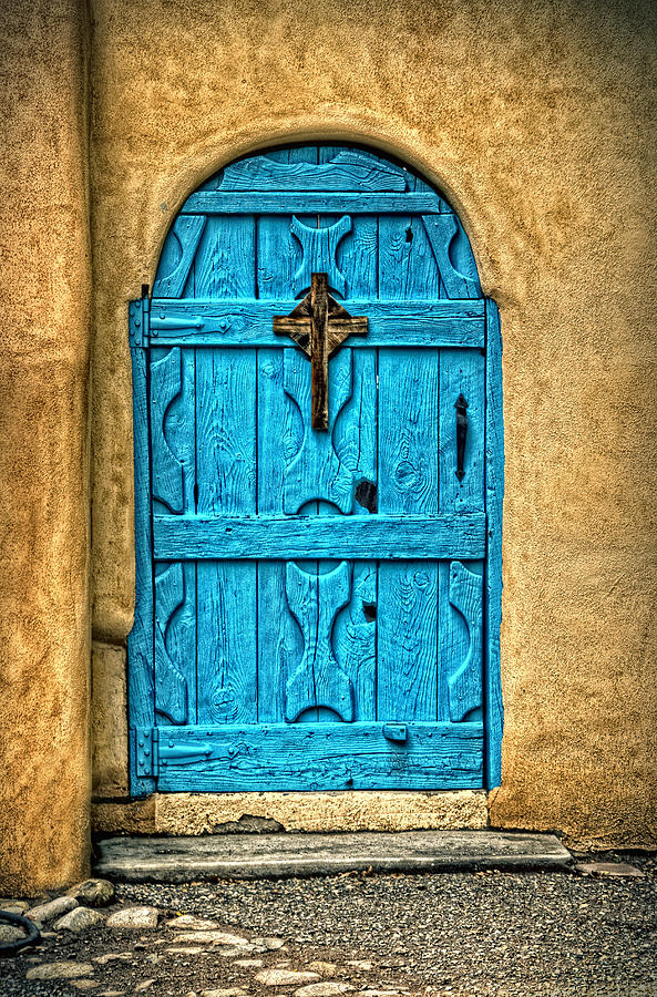 Taos Blue Door Photograph By Ken Smith