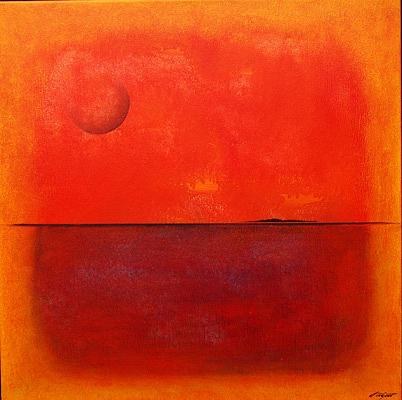 Taos On The Horizon Painting by Ed Wyatt