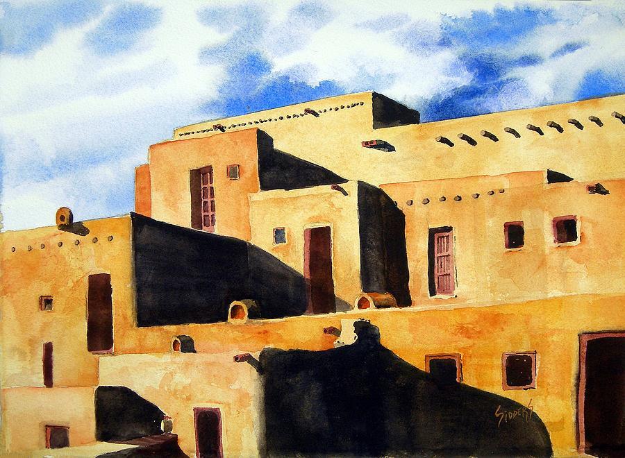 Pubelo Painting - Taos Pueblo by Sam Sidders
