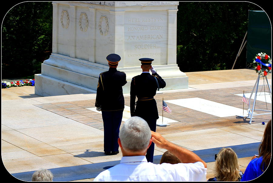 Arlington National Cemetery Photograph - Taps At The Tomb Of The Unknown by Patti Whitten