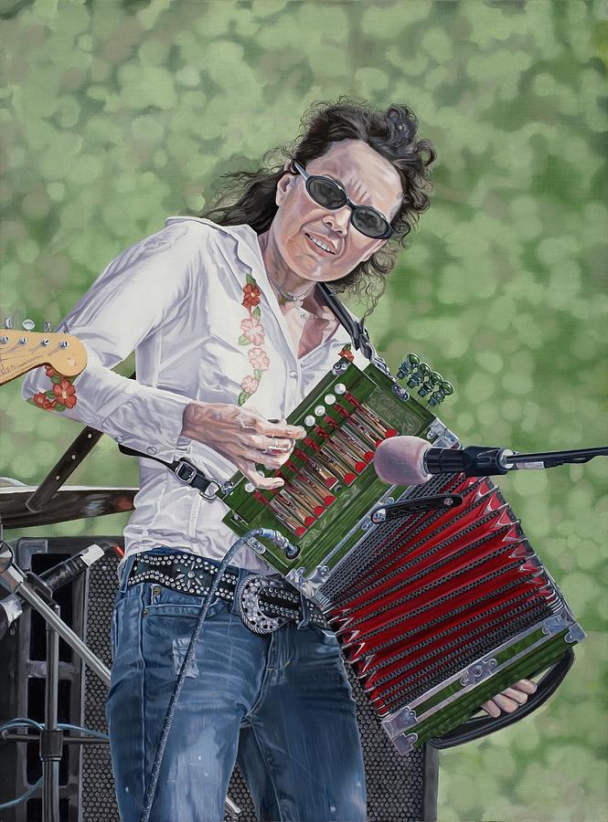 Tara Nevins Painting - Tara Nevins by Kevin Aita
