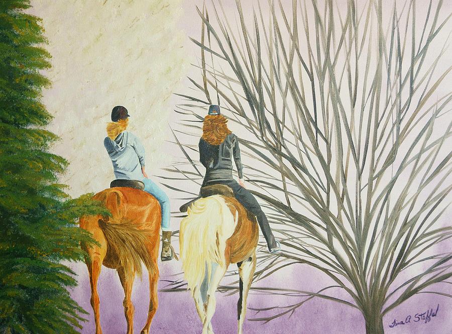 Horse Painting - Taras Ride by Tina Stoffel