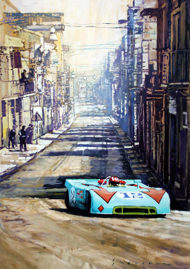 Acrilic Painting - Targa Florio 1970  Porsche 908 Siffert by Yuriy Shevchuk