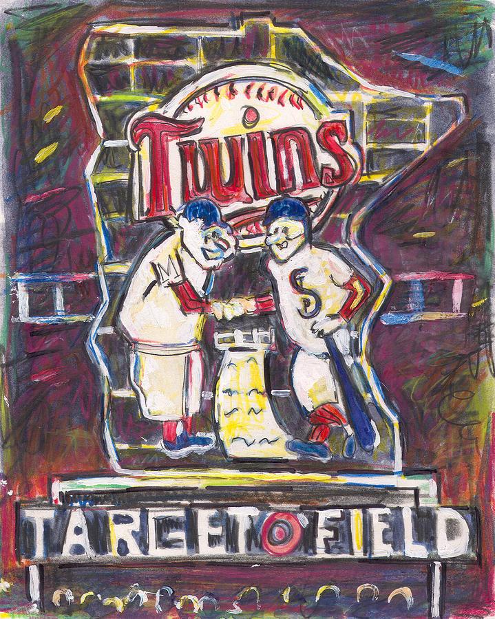 Target Field Painting - Target Field At Night by Matt Gaudian