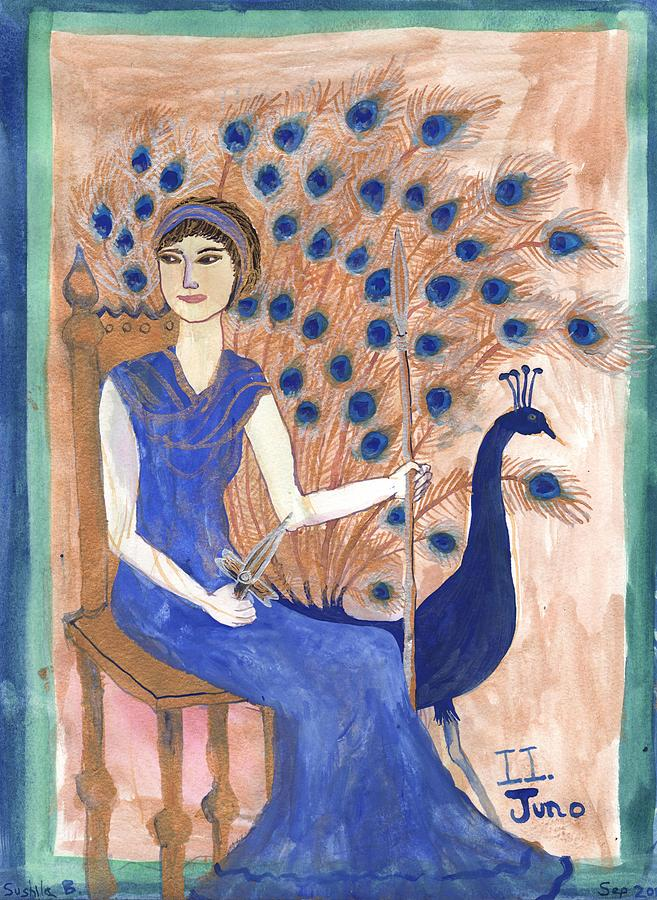 Tarot Painting - Tarot 2 Juno by Sushila Burgess