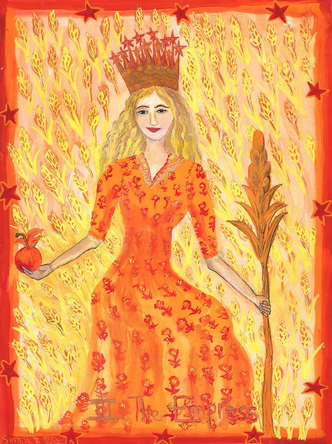 Tarot Painting - Tarot 3 The Empress by Sushila Burgess