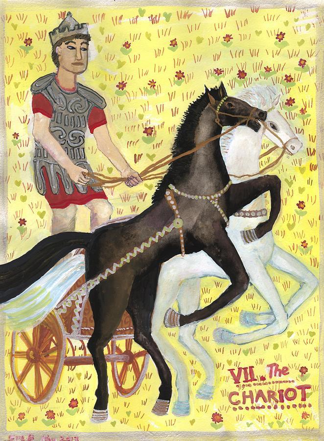 Tarot Painting - Tarot 7 The Chariot by Sushila Burgess