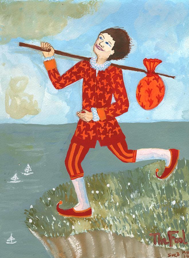 Tarot Painting - Tarot The Fool by Sushila Burgess