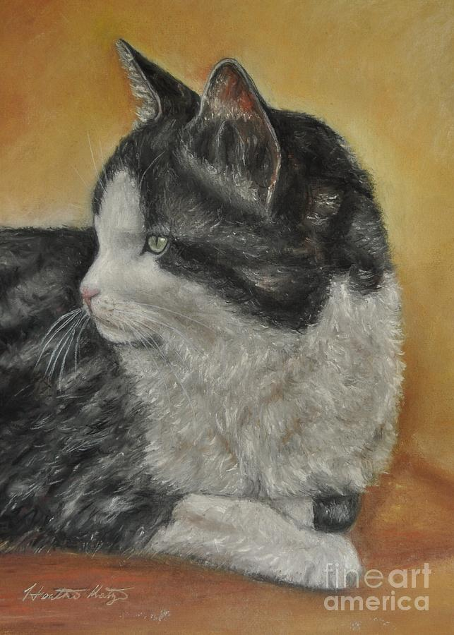 Cat Painting - Tasha by Heather Kertzer