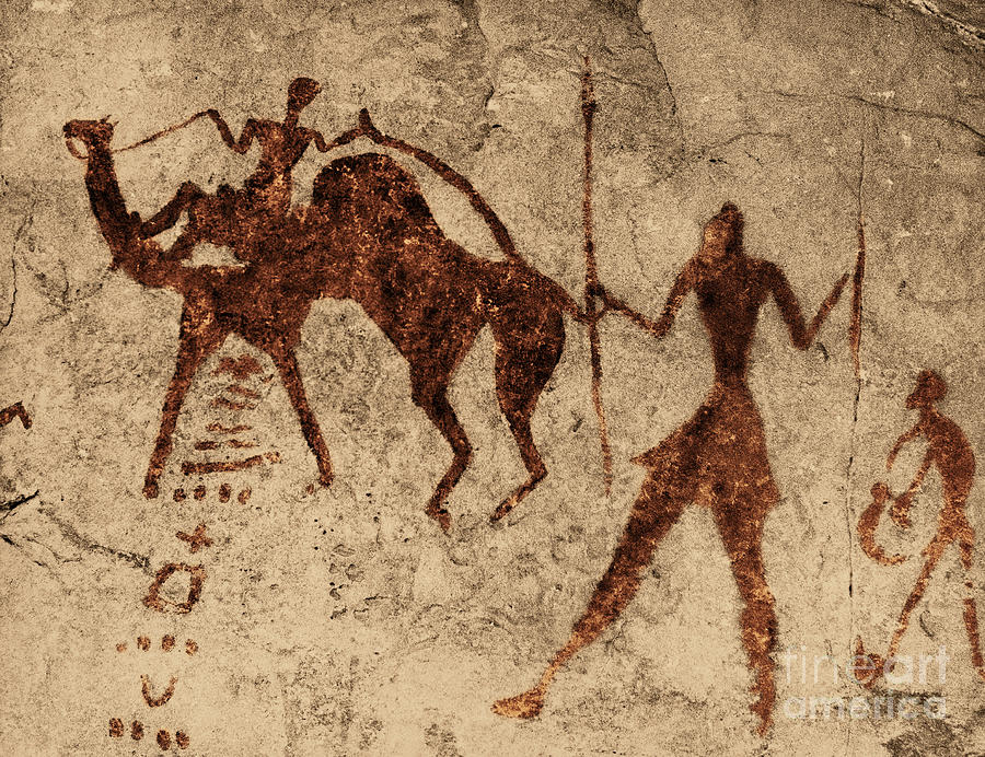 Prehistoric Photograph - Tassili Najjer Rock Painting Algeria by George Holton