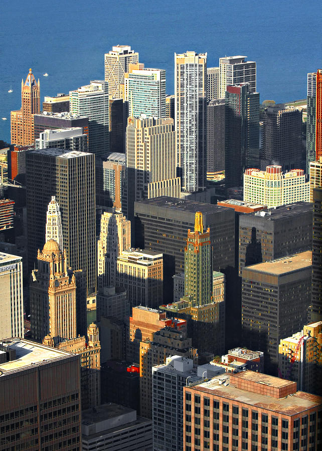 Aerial Photograph - Taste Of Chicago From Above by Christine Till