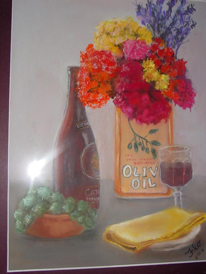 Taste Of Wine Pastel by Flo Bernatt